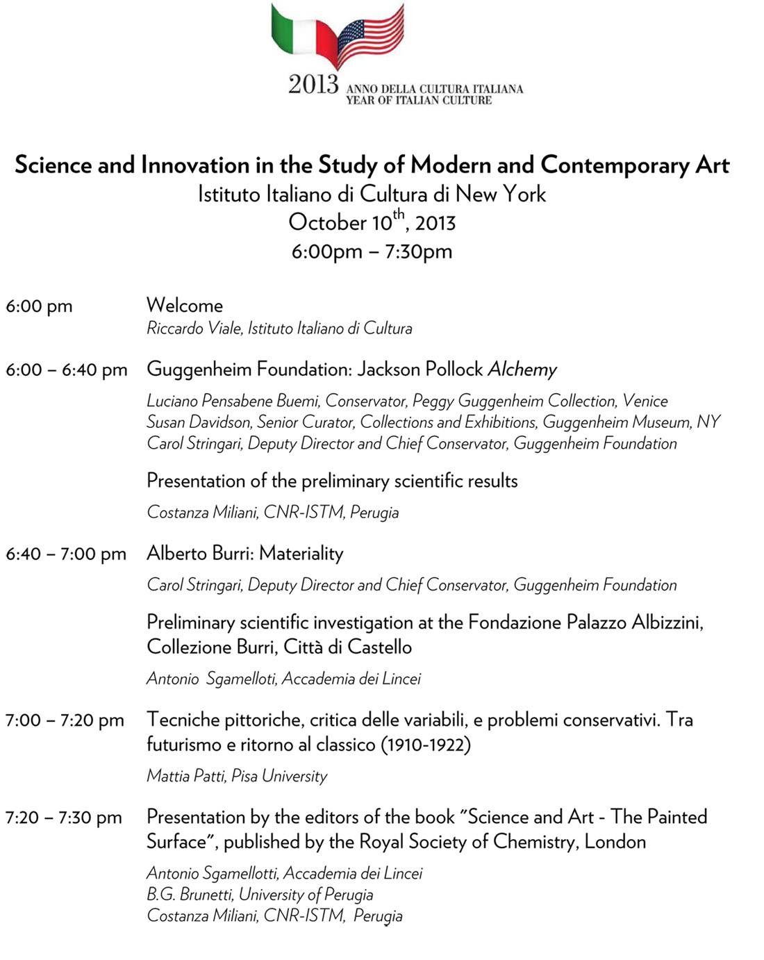 Science and Innovation for the Study and Conservation of Works o